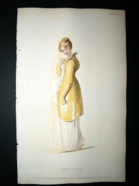 Ackermann 1811 Hand Col Regency Fashion Print. Opera Dress 5-18